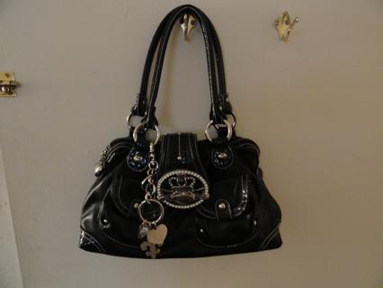 FREE  kathy van zeeland black leather handbag purse(gently used) 100%  Authentic aafa30098f8ec