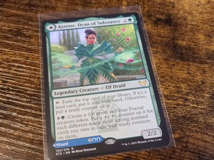 Magic the gathering mtg kianne dean of substance Imbraham dean of theory rare card Strixhaven