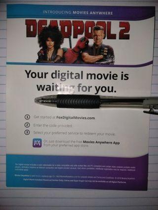 LOW GIN! Deadpool 2 HD Digital copy only LOW GIN!