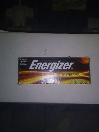 Energizer Industrial 24 Pack AAA Batteries(New In Box)