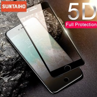 Suntaiho 5D Full coverage Tempered Glass For iPhone 11 Xr Xs Screen Protector For iPhone X 8 6 7