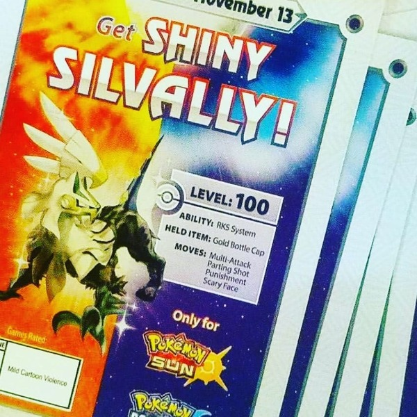 Free Shiny Silvally With Gold Bottle Cap For Pokemon Sun Or