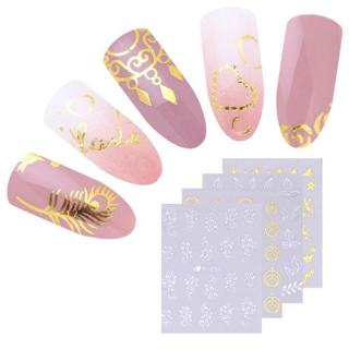 30 Sheets Water Decals Stickers Flower Cat Manicure Nail Art Transfer Sticker