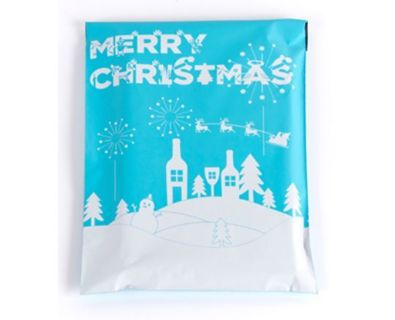 """Merry Christmas Poly mailers 10"""" X 13"""" (2)"""