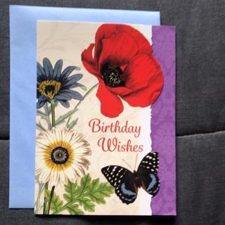 Poppy Birthday Wishes Card