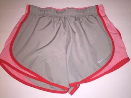 Women's Nike Dri Fit Gray Red and Pink Shorts Sz Medium