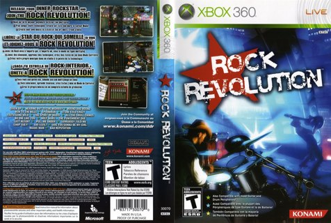 Rock Revolution xbox 360 Video Game GIN