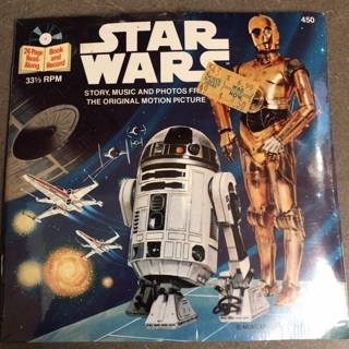 Vintage Star Wars book and record. Free Shipping.