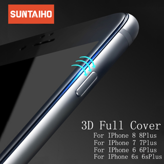 Suntaiho 3D Full Curved cover carbon fiber PET Soft Edge Tempered Glass For iPhone 7 7Plus Screen