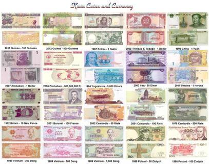 World Currency Set 20 Notes Poland