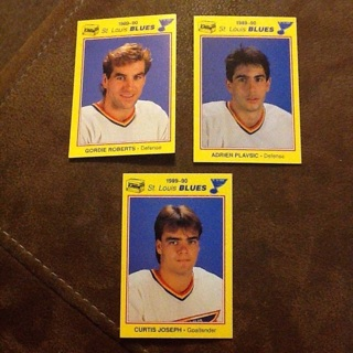 Lot of 3 NHL St Louis Blues Cards