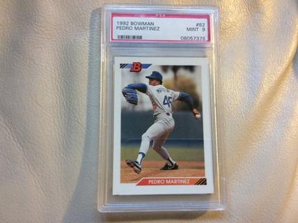 Free Graded Pedro Martinez Rookie 1992 Bowman Baseball Card
