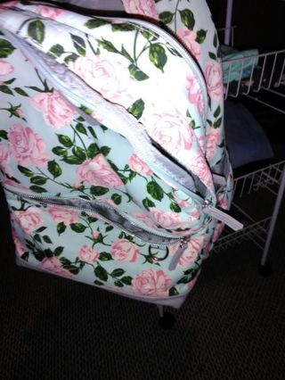 Roses covered backpack