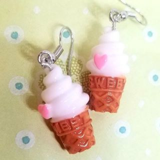 """Icecreams"" earrings funny New free ship"