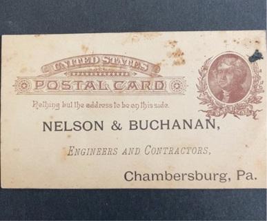 USA 1800's postal card 1 cent stamp unused