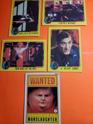5 Dick Tracy Cards