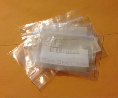10 Ezy Dose Pill Pouch Bags 3x2 Baggies Free Shipping