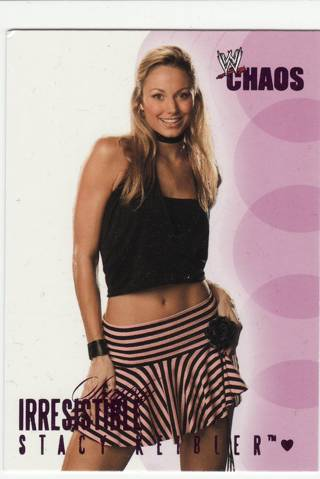 STACY KEIBLER 2004 WWE CHAOS IRRESISTABLE SUBSET WRESTLING CARD - READ DESCRIPTION