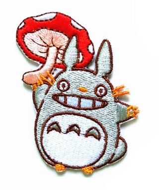 1 NEW My Neighbor Totoro Embroidered Iron On Patch Anime Manga FREE SHIPPING