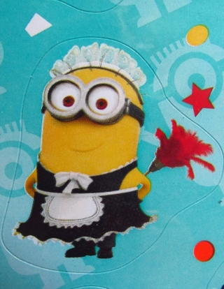 MINION Stickers - four complete sheets 72 total NIP
