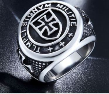 Cross Knights Templars Ring Men Stainless Steel Unique Jewelry Biker Ring Size 7-13