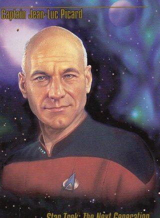 1993 Star Trek Collectible/Trade Card: Captain Jean-Luc Picard