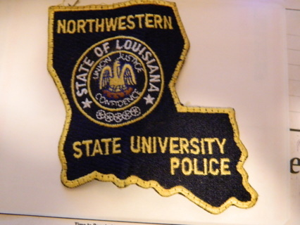 #1 Authentic Northwestern State of Louisiana State University Police Patch - FREE Shipping!