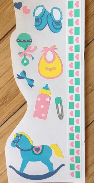 Ten Baby Stickers