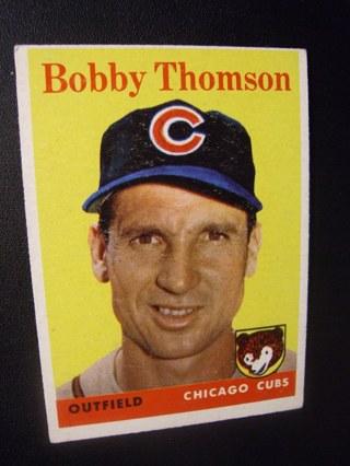 1958 - TOPPS EXMT - NRMT BASEBALL CARD  NO. 430 - BOBBY THOMSON - CUBS