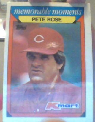 ***1988 TOPPS KMART MEMORABLE MOMENTS PETE ROSE BASEBALL CARD***