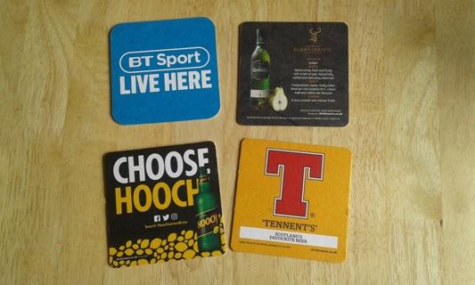 #4 4 beer mats/ coasters