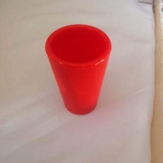Red Rubber Shot Glass. #01