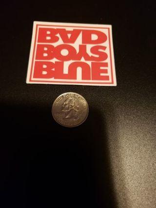 BAD BOYS BLUE Vinyl Decal Laptop Skateboard Sticker bomb Reverse Image