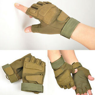 Good Multi-use CFC Military Tactical Hunting Riding Game Gloves New