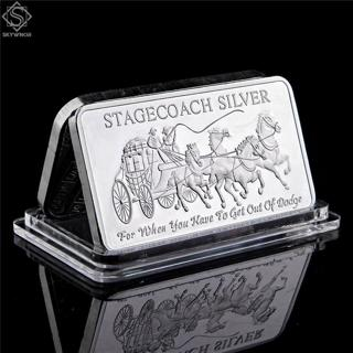 Stagecoach Fine .999 1 Troy Oz Silver Collection Decoration American Style New