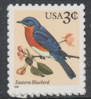 United States:  1991, Eastern Bluebird, MNH-OG, Scott # US-2478 - US-5321m