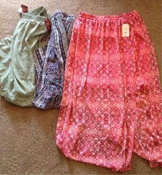 3 faded glory brand new skirts large