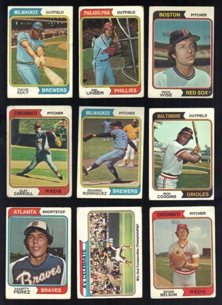1974 Topps 18 Card Lot with 5 Traded Cards - All Listed