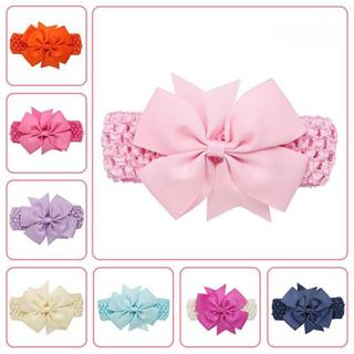 Wave baby girl headbands Bowknot Hair Accessories For Girls Infant Hair Band flower headband newbo