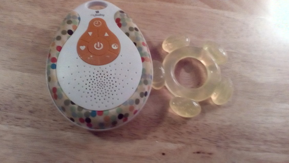 Infant Mybaby Sound Machine & Teether: EUC