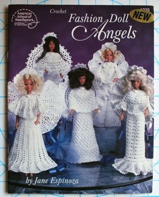 Free: Crochet Fashion Doll Angels, Doll Clothes Pattern Book by Jane ...