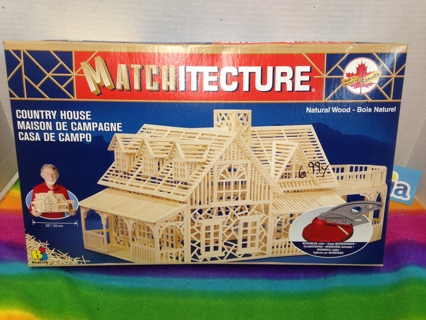A944  MATCHITECTURE Country House Matchstick Model Construction Craft Kit BUILDERS SET CANADA MIB