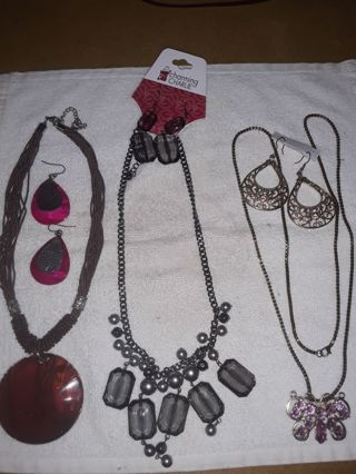 3 jewelry sets all goes