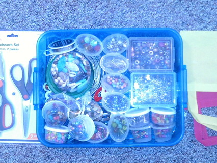 HUGE LOT~~~LARGE FLAT RATE BOX FILLED WITH CHARMS BEADS PENDANTS TOOLS FINDINGS ~~ ALL BRAND NEW !!