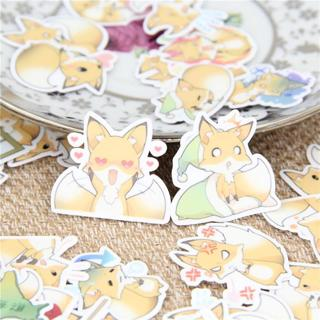 40 Pcs Fox angry cartoon Stickers for  Fashion Laptop Snowboard Home Decor Car Styling Decal Fridg