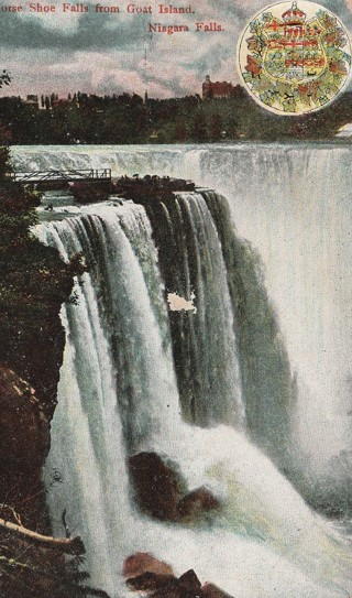 Vintage Used Postcard: 1907 Horseshoe Falls from Goat Island, Niagara Falls, NY