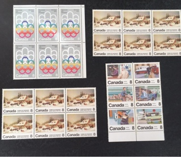 MNH CANADA STAMP BLOCKS