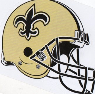 2017 NFL 4x3 Team Helmet Sticker: New Orleans Saints