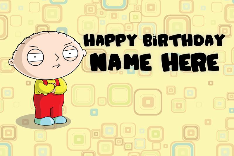 Free Custom Family Guy Birthday Card Stewie Griffin Birthday