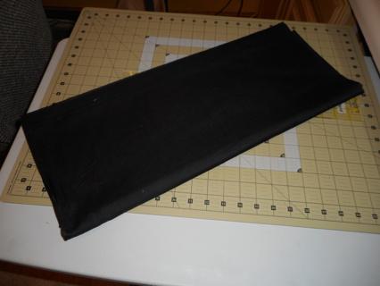 1 yd black fabric